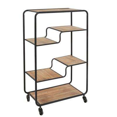 Franklin Gunmetal Table Cart Multi-tiered Slim