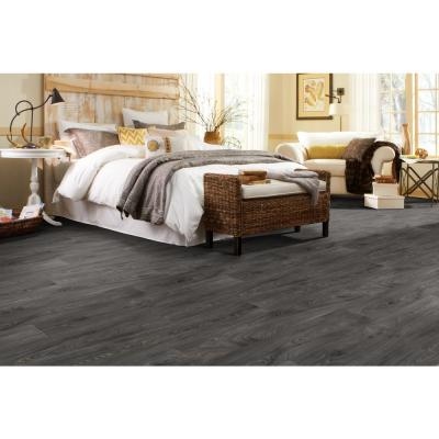 Scorched Walnut Charcoal Wood Residential Vinyl Sheet Flooring 12ft. Wide x Cut to Length
