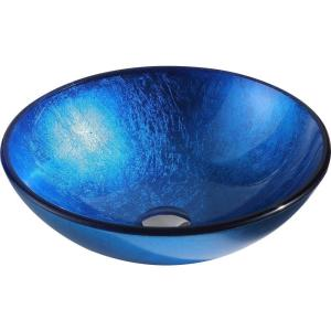 ANZZI Clavier Series Vessel Sink in Lustrous Blue by ANZZI
