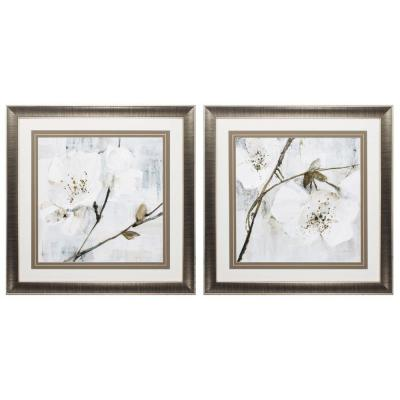 Homeroots Victoria Glass Gunmetal Gray Wall Architectural Decor Set Of 2 365862 The Home Depot