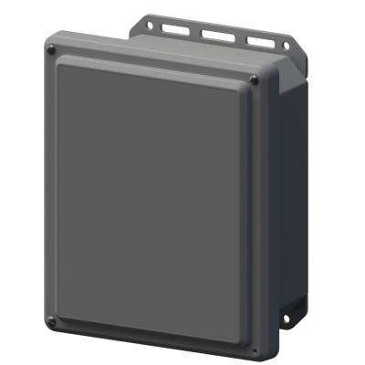 11.8 in. L x 10 in. W x 5.5 in. H Polycarbonate Gray Screw Top Cabinet Enclosure with Gray Bottom
