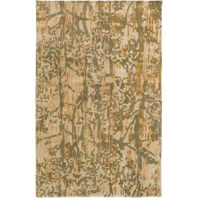 Nora Dark Green 8 ft. x 10 ft. Area Rug