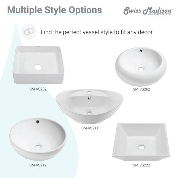Swiss Madison Claire Vessel Sink In Glossy White Sm Vs203 The Home Depot