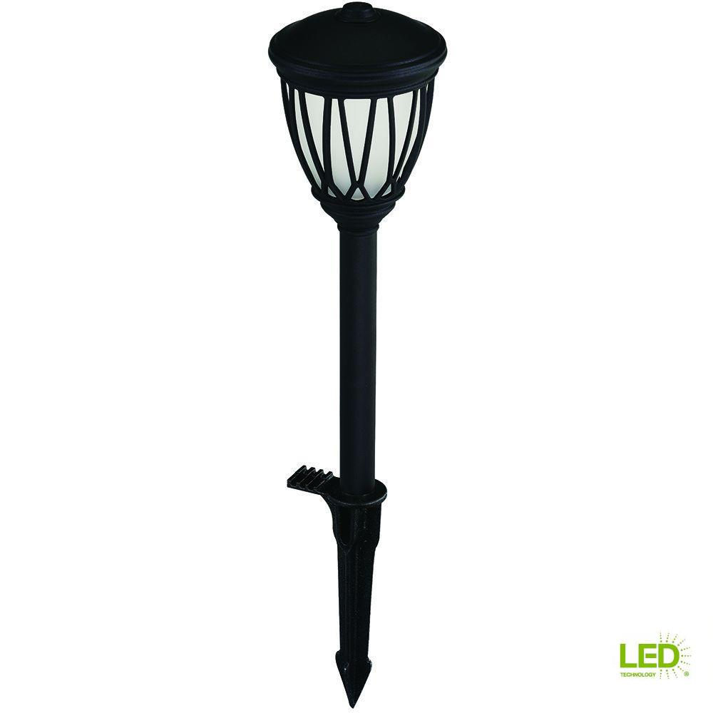 Low-Voltage Black Outdoor Integrated LED Decorative Landscape Path Light