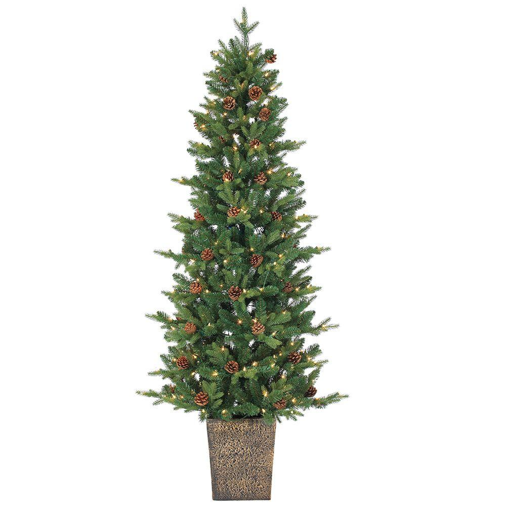 Where To Cut Christmas Trees: Sterling 6 Ft. Pre-Lit Natural Cut Georgia Pine Artificial