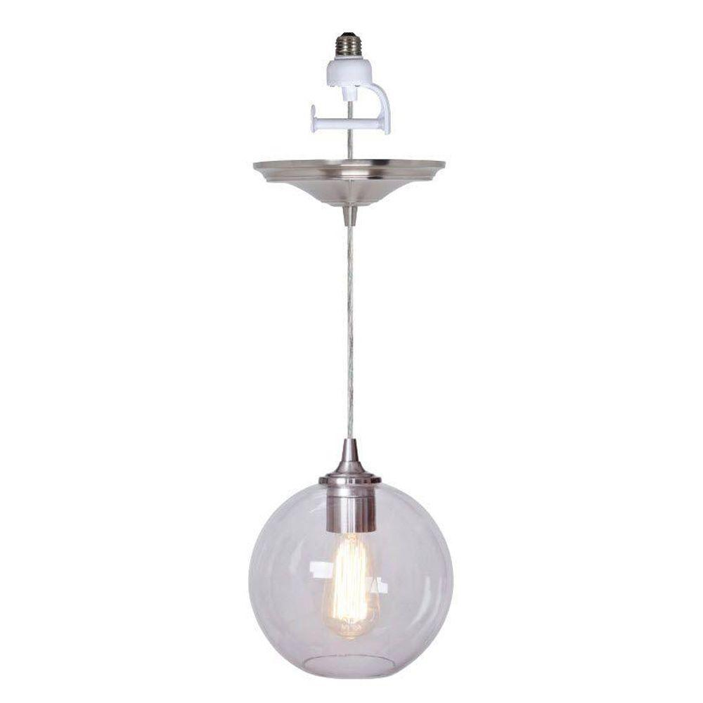 Home Decorators Collection Orb Ceiling Brushed Nickel Pendant 1235700420 The Home Depot
