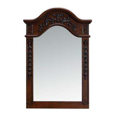 24 in. x 36 in. Framed Single Wall Mirror in Dark Cherry