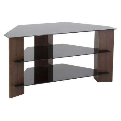 Varano Walnut and Black Entertainment Center