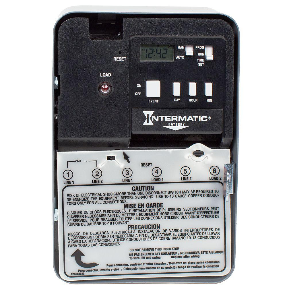 Intermatic 30 Amp 240 Volt Dpst Electronic Water Heater Time Switch Spst Toggle W Wire Leads Onoff 20a Vetconet