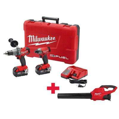 M18 FUEL 18-Volt Lithium-Ion Brushless Cordless Hammer Drill/Impact Driver Combo Kit (2-Tool) W/ Free M18 FUEL Blower