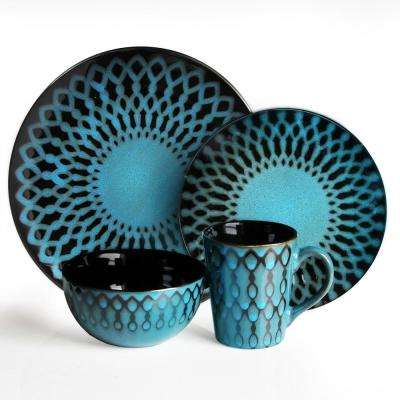 16-Piece Sicily Blue Dinnerware Set