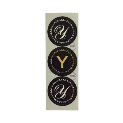 Y Monogram Decorative Bathroom Sink Stopper Laminates (Set of 3)