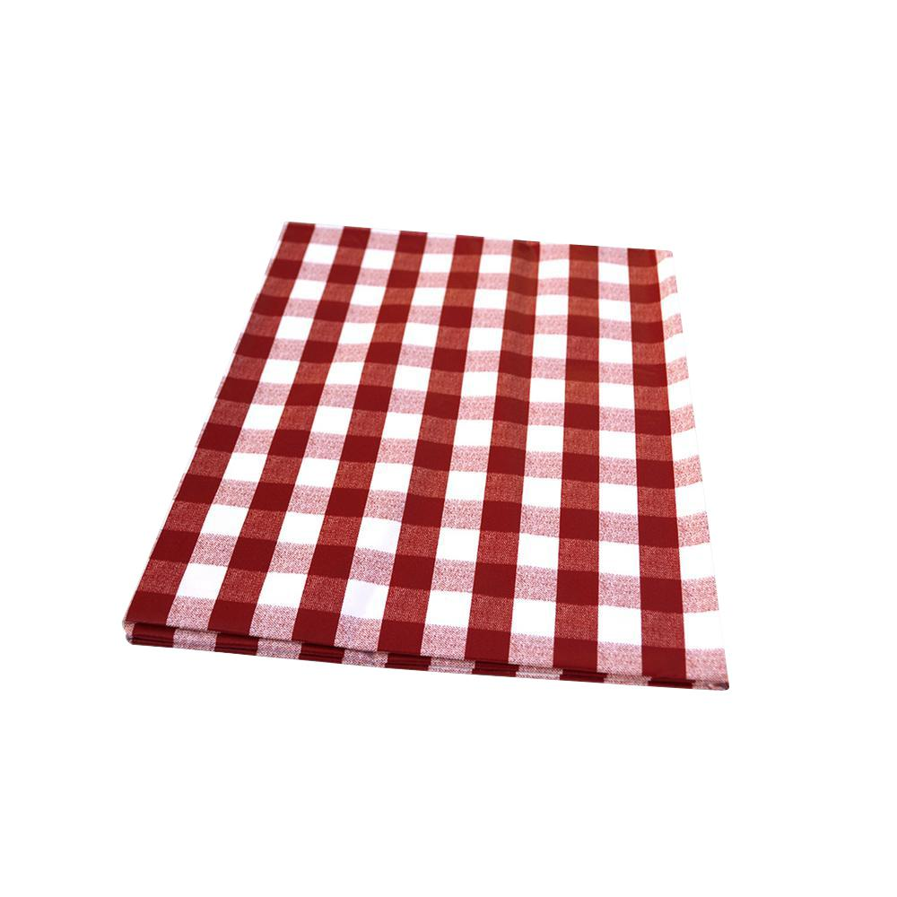 55 in. x 102 in. Indoor and Outdoor Red Checkered Design ...