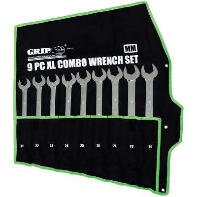 X-Large Combination Wrench Set MM (9-Piece)
