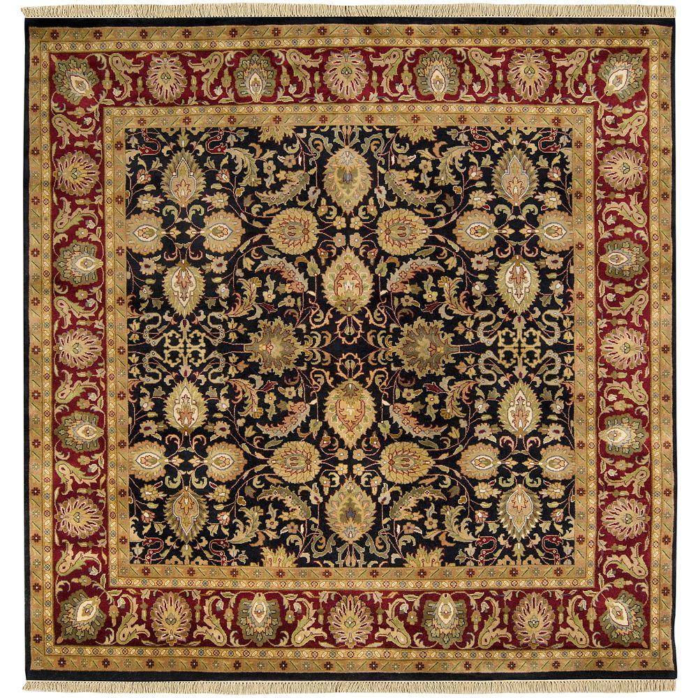 Lehi Black 8 ft. Square Area Rug