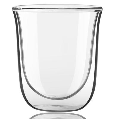 Javaah 2 oz. Clear Double Wall Espresso Glasses (Set of 4)