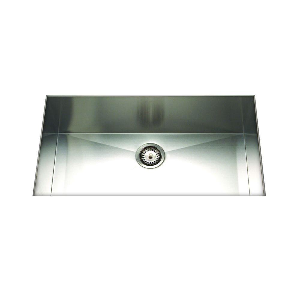 Cantrio Undermount Stainless Steel 32 in. Single Bowl Kitchen Sink