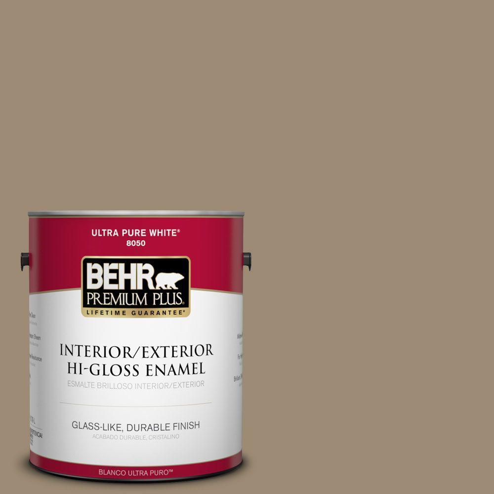 BEHR Premium Plus 1-gal. #T14-17 Archivist Hi-Gloss Enamel Interior/Exterior Paint
