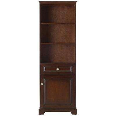 Highclere 22 in. W x 65 in. H x 10 in. D Bathroom Linen Storage Cabinet in Cocoa