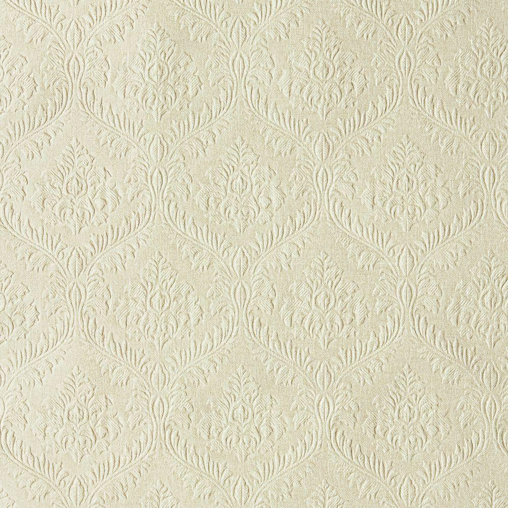 null Yveline Taupe Damask Ogee Wallpaper