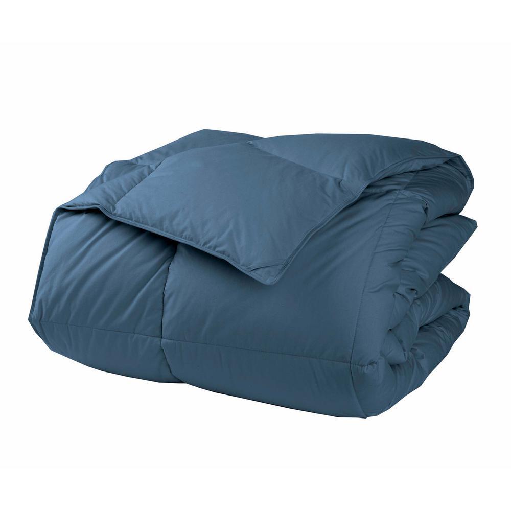 LaCrosse LoftAIRE Extra Warmth Smoke Blue King Down Alternative Comforter