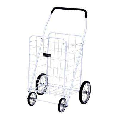 Jumbo Shopping Cart in White