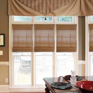 Radiance Pecan Westside Bamboo Roman Shade 23 In W X 72