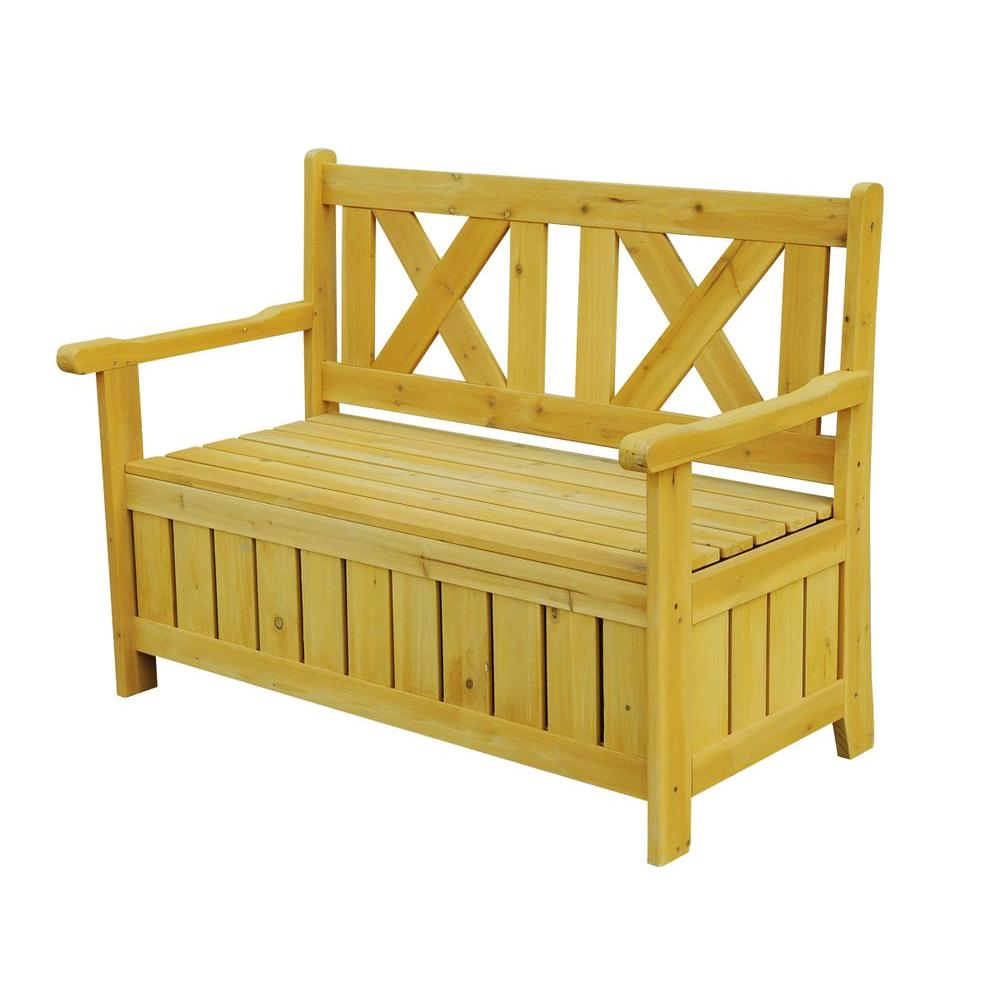 Leisure Season Bench with Storage  sc 1 st  The Home Depot & Leisure Season Bench with Storage-SB6024 - The Home Depot
