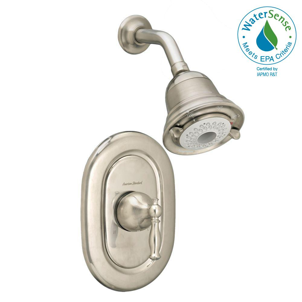 Quentin FloWise Pressure Balance 1-Handle Shower Faucet Trim Kit in Brushed