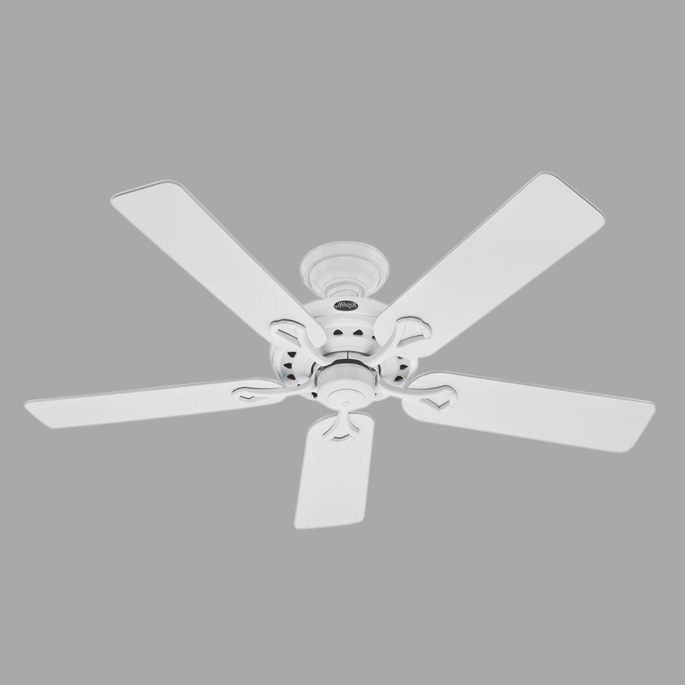 Hunter savoy 52 in indoor white ceiling fan 53103 the home depot hunter savoy 52 in indoor white ceiling fan aloadofball Image collections