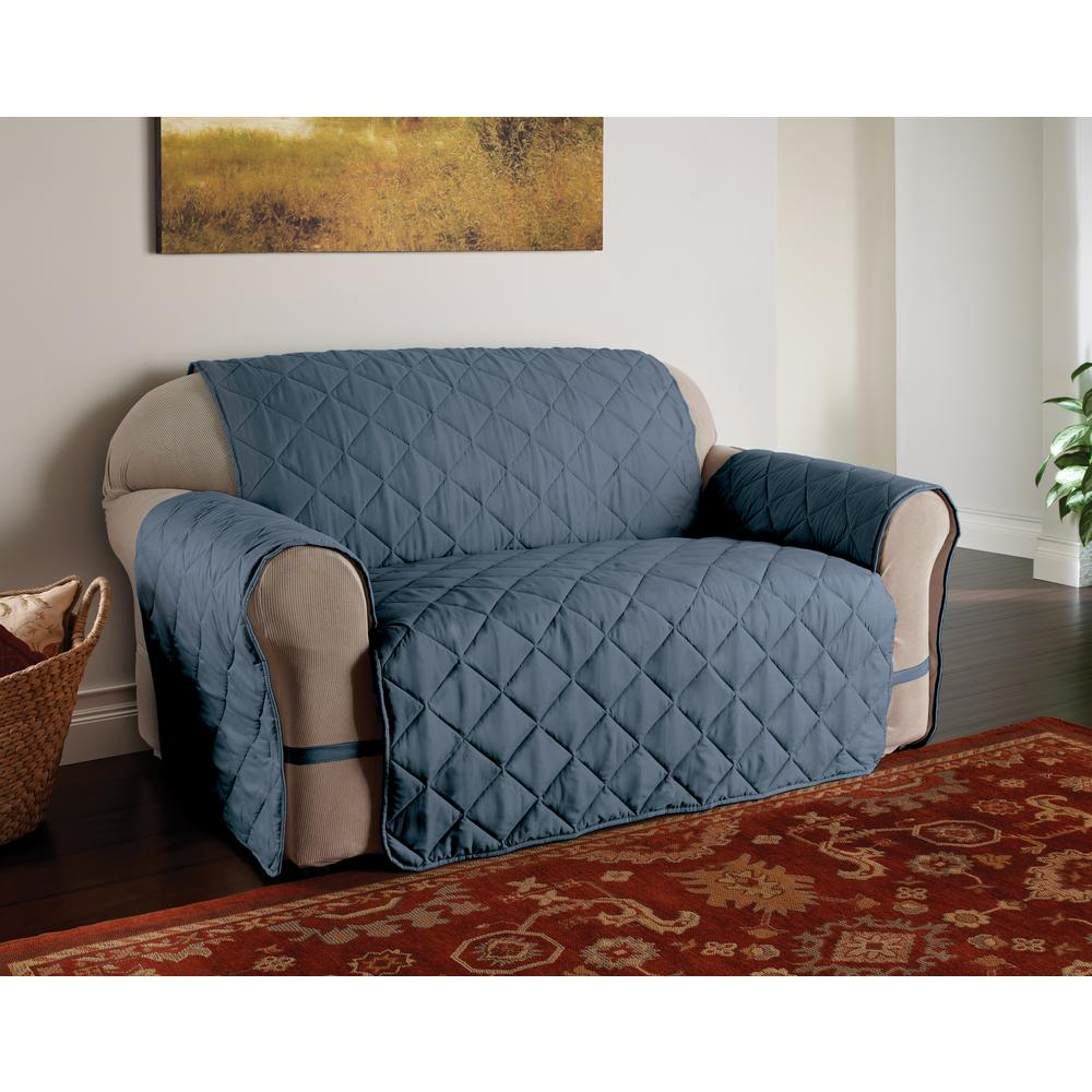 Microfiber Solid Ultimate Xl Slate Blue Sofa Protector