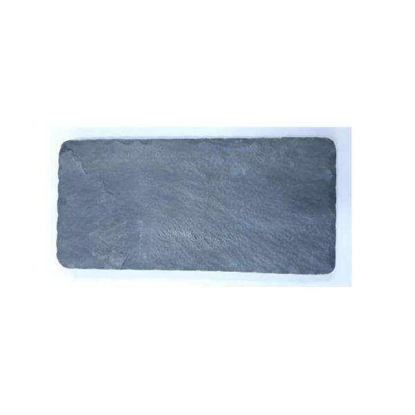 Natural 10 in. Natural Stone Gray Serving Slate