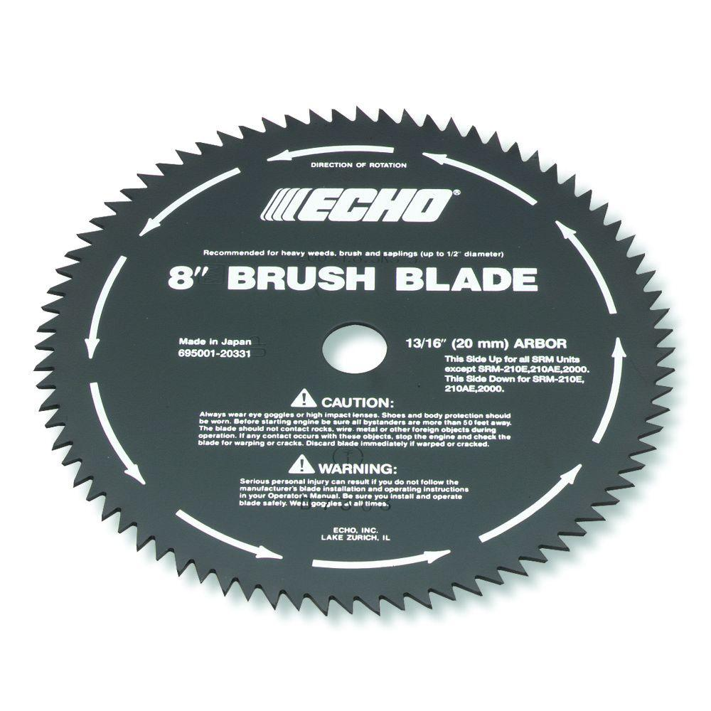 Echo 8 in 80 tooth brush blade for brush cutter 69500120331 the echo 8 in 80 tooth brush blade for brush cutter 69500120331 the home depot greentooth Choice Image