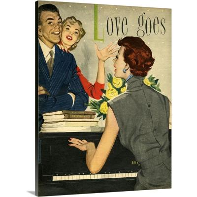 """""""Friends Playing The Piano And Singing"""" by Advertising Archives Canvas Wall Art"""