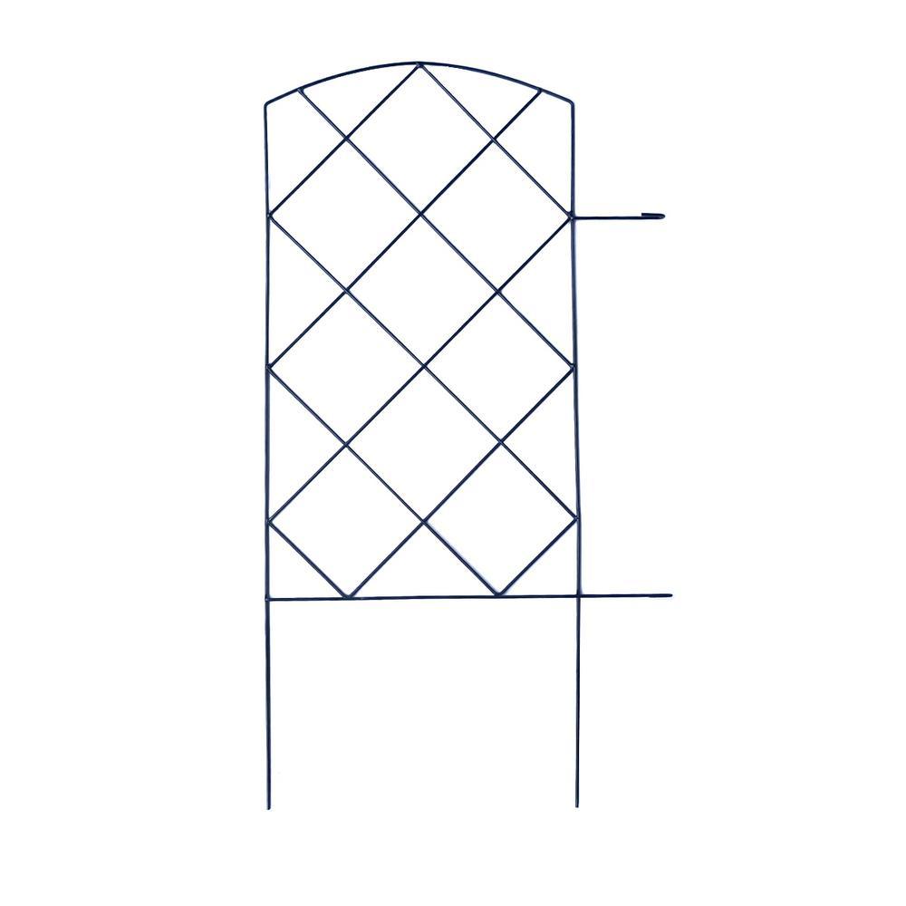 Vigoro Large Lattice 28 in. Steel Garden Folding Fence