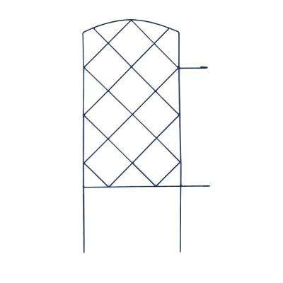 Large Lattice 28 in. Steel Garden Folding Fence