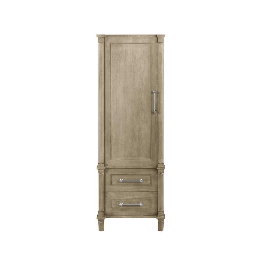 Aberdeen 20.71 in. W x 14.40 in. D x 60 in. H Single Door Linen Cabinet in Antique Oak