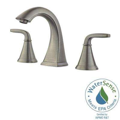 Pasadena 8 in. Widespread 2-Handle Bathroom Faucet in Slate