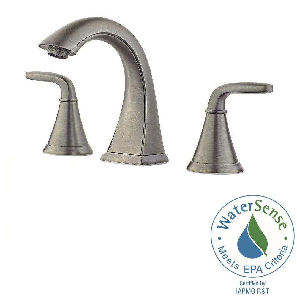 Widespread 2 Handle Bathroom Faucet In Slate