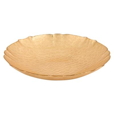 Victoria Authentic 12 in. 32 oz. Gold Leaf on Glass Bowl