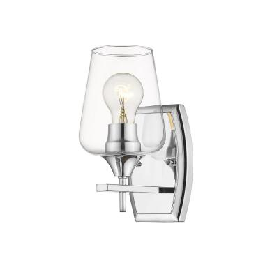 1-Light Chrome Sconce with Clear Glass