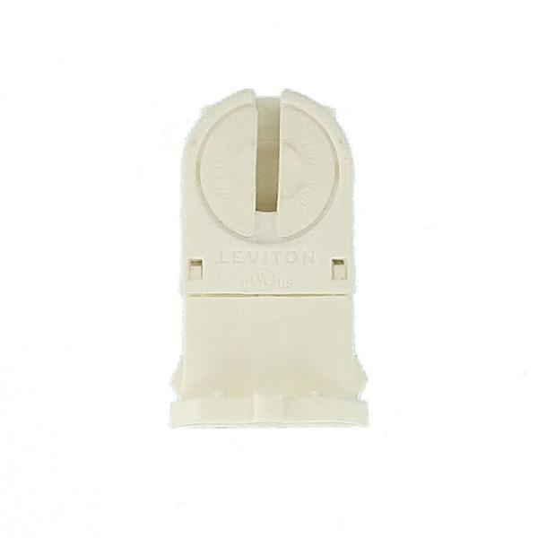 T5 Miniature Bi-Pin Twist-In With Lamp-Lock Leviton 13654-TWP Linear Fluorescent Lampholder