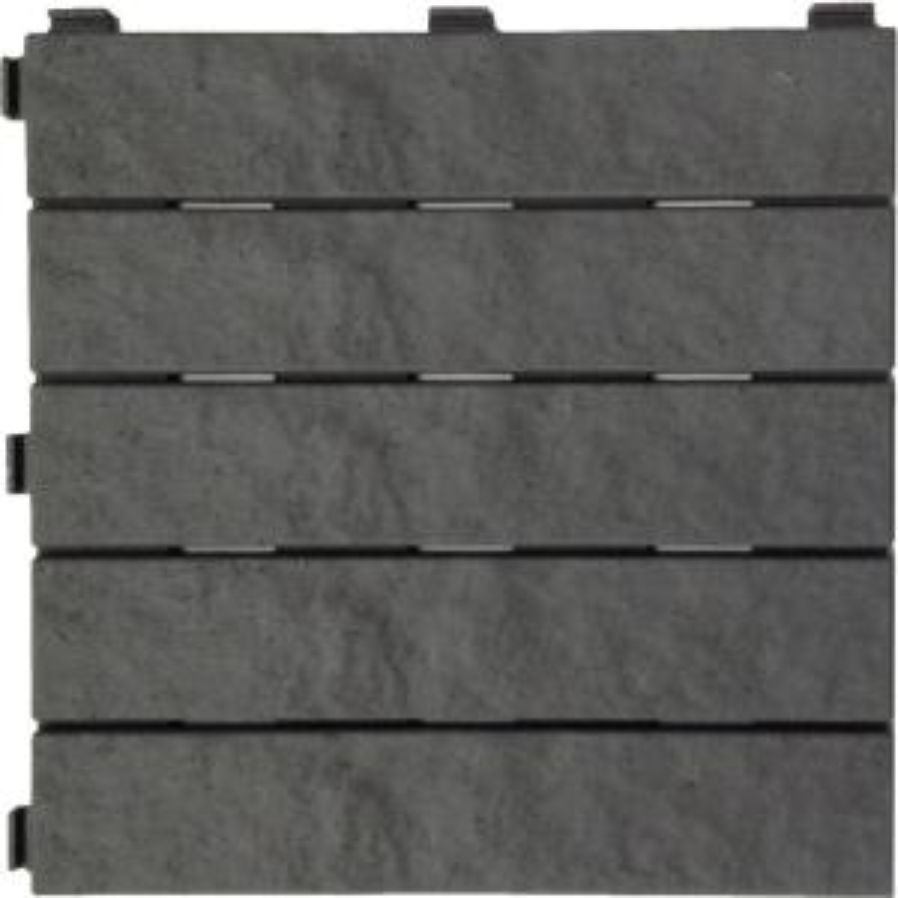 X 12 In Rubber Slate Deck Tile