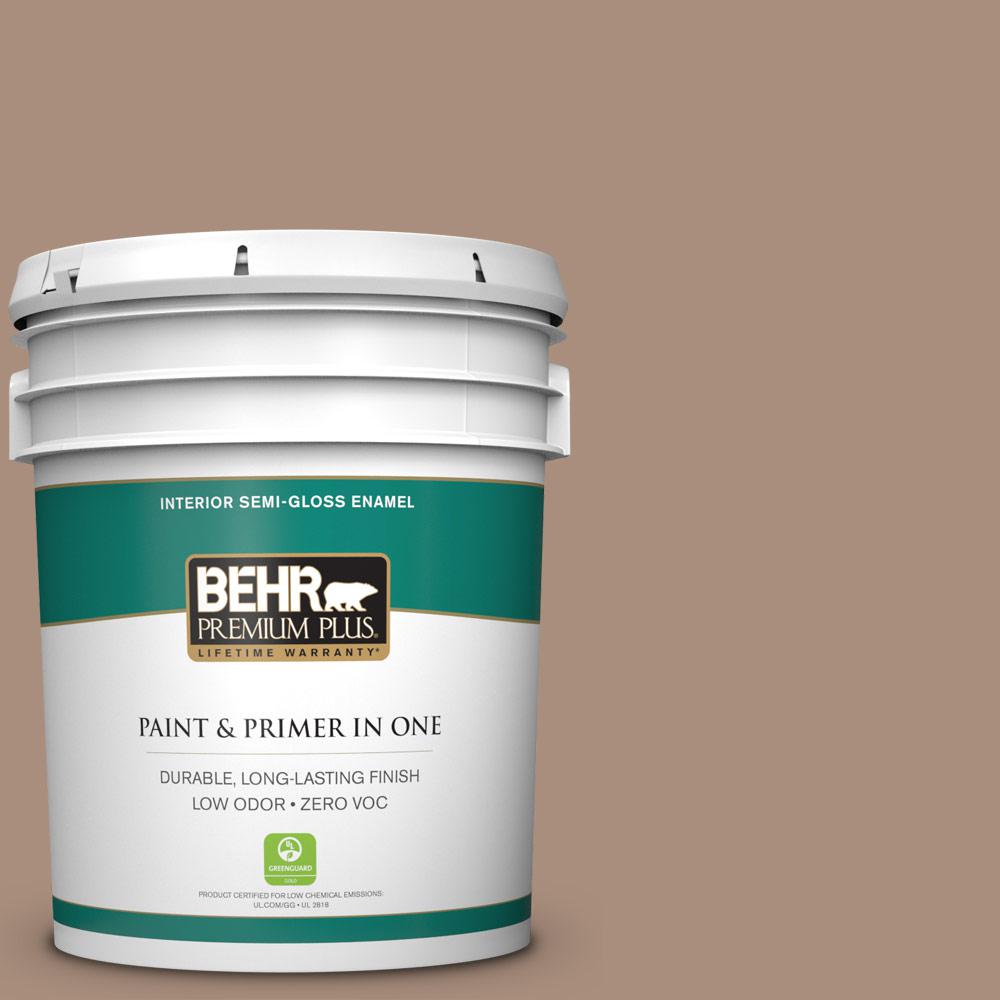 5-gal. #BNC-13 Cozy Cocoa Semi-Gloss Enamel Interior Paint