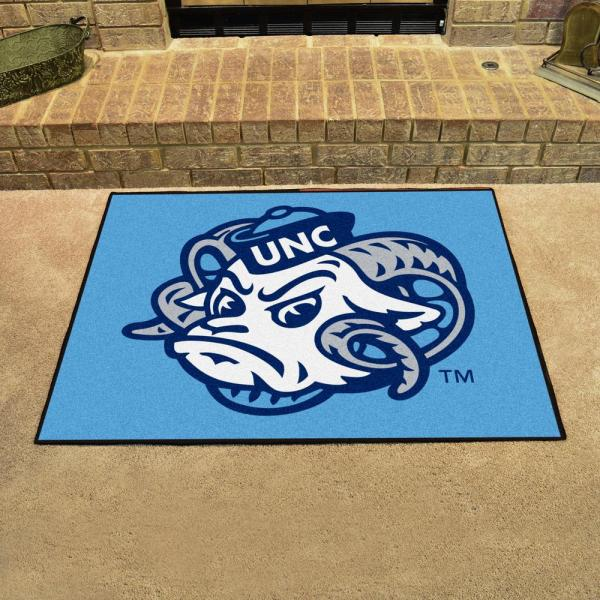 Fanmats Ncaa University Of North Carolina Chapel Hill Blue 3 Ft X 4 Ft Rectangle Indoor All Star Area Rug 2399 The Home Depot
