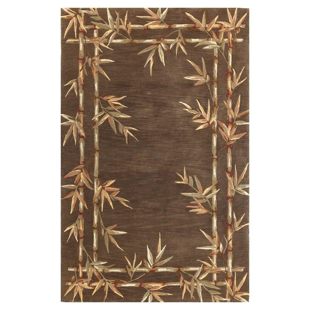 Kas Rugs Bamboo Screen Mocha 7 ft. 9 in. x 9 ft. 6 in. Area Rug