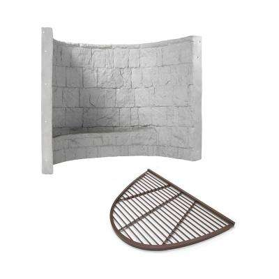 66 in. x 44 in. x 48 in. Grey Premier Composite Window Well with Aluminum Bar Grate