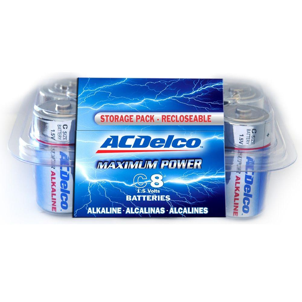 null 8 of C ACDelco Alkaline Batteries with Recloseble Box-DISCONTINUED