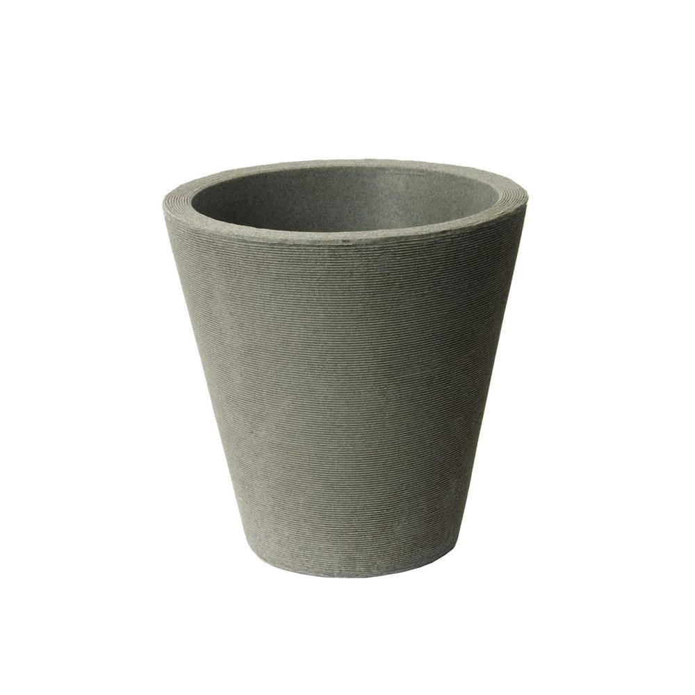 Olympus Self-Watering 17 in. H x 16 in. Taupestone Plastic Planter