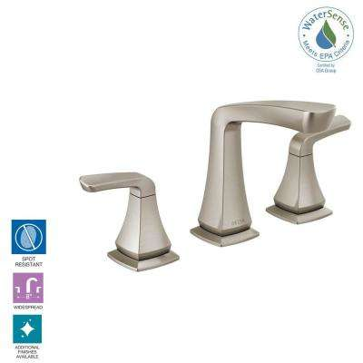 Vesna 8 in. Widespread 2-Handle Bathroom Faucet in SpotShield Brushed Nickel